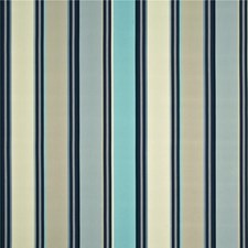 Aqua/Indigo/Linen Decorator Fabric by Baker Lifestyle