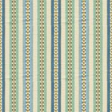 Aqua/Sky Stripes Decorator Fabric by Baker Lifestyle