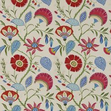 Tropical Embroidery Decorator Fabric by Baker Lifestyle
