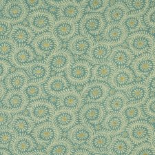 Blue/Aqua Print Decorator Fabric by Baker Lifestyle