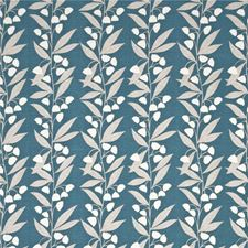 Teal Botanical Decorator Fabric by Baker Lifestyle