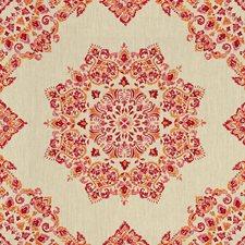 Fuchsia/Sienna Diamond Decorator Fabric by Baker Lifestyle