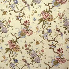 Stone Botanical Decorator Fabric by G P & J Baker