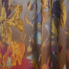 Blue/Brown/Pink Transitional Decorator Fabric by JF