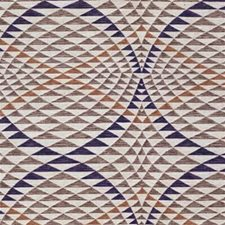Brown/Purple/Rust Modern Decorator Fabric by Kravet