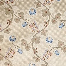 Blue Cream Decorator Fabric by Scalamandre