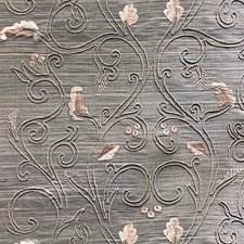 Taupe On Light Grey Decorator Fabric by Scalamandre