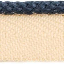 Cord With Lip True Blue Trim by Lee Jofa