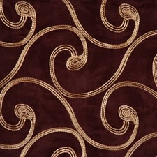 Merlot/Gold Decorator Fabric by RM Coco