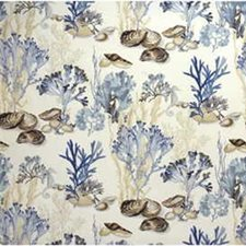 Beige/Blue Novelty Decorator Fabric by Kravet