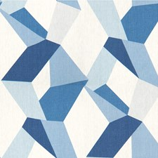 Cerulean Geometric Decorator Fabric by Kravet
