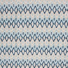 Blue - Check Repeats Decorator Fabric by RM Coco