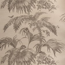 Charcoal On Dove Leaves Wallcovering by Stroheim Wallpaper