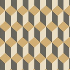 Gold and Black Print Wallcovering by Cole & Son Wallpaper