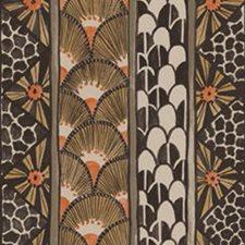 Black/Burnt Orange Print Wallcovering by Cole & Son