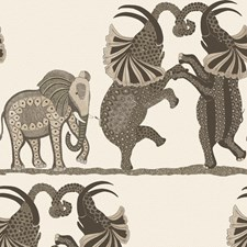Neutral/Charcoal Print Wallcovering by Cole & Son