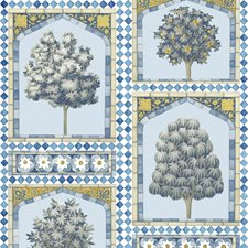 China Blue/Ochre Print Wallcovering by Cole & Son Wallpaper