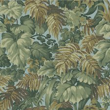 Khaki/Print Room Blue Botanical Wallcovering by Cole & Son Wallpaper