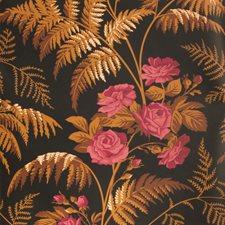 Cerise/B Orange/Black Print Wallcovering by Cole & Son Wallpaper