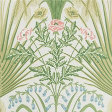 Spring Green/Crm Print Wallcovering by Cole & Son Wallpaper