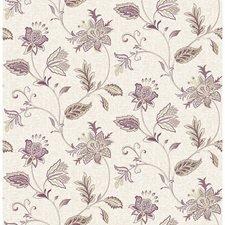 Burgundy Jacobean Wallcovering by Brewster