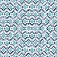 Turquoise Kitchen and Bath Wallcovering by Brewster