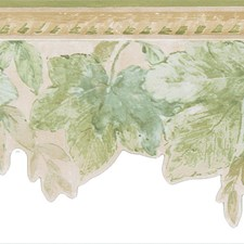 414B06914 Acanthus Green Leaves Border by Brewster