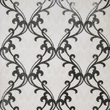 Cream Black Print Pattern Wallcovering by Fabricut Wallpaper