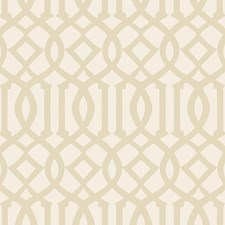 Sand/Ivory Wallcovering by Schumacher Wallpaper