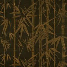 Gold On Jet Wallcovering by Schumacher Wallpaper
