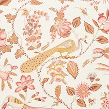 Rose/amp/Ochre Wallcovering by Schumacher Wallpaper
