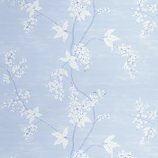 French Blue Floral Wallcovering by Stroheim Wallpaper