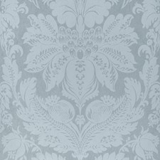 Robins Egg Damask Wallcovering by Stroheim Wallpaper