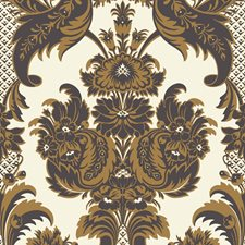 Black/Gold Wallcovering by Cole & Son Wallpaper