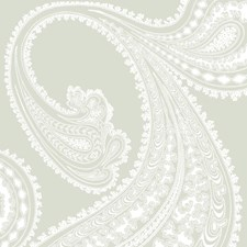White/Olive Paisley Wallcovering by Cole & Son Wallpaper