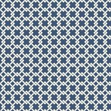 Blue/White Geometrics Wallcovering by York