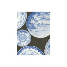 Blue Grey Novelty Wallcovering by Andrew Martin Wallpaper