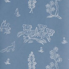 Happy Blue Novelty Wallcovering by Andrew Martin Wallpaper