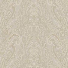 Beige/White/Gold Metallic Wallcovering by York