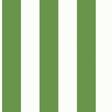 Cream/Bright Green Stripes Wallcovering by York