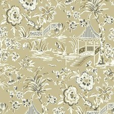Tan/Khaki/Off White Traditional Wallcovering by York