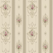 Pearlescent Beige/Taupe/Pink Floral Wallcovering by York