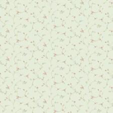 Pale Aqua/Bright Aqua/Coral Floral Wallcovering by York