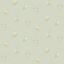 Light Blue/Silver/White Floral Mini Wallcovering by York