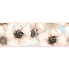 Pink/Pearl Blue Botanical Wallcovering by York