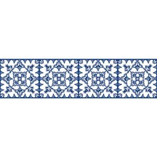 White/Blue Bohemian Wallcovering by York