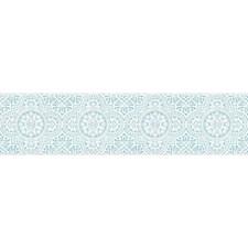 Aqua Blue/White Bricks Wallcovering by York
