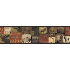 Brown/Orange/Green Animals Wallcovering by York