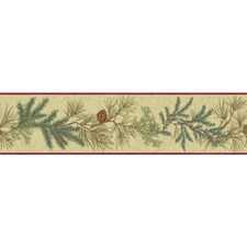 Red/Green/Tan Botanical Wallcovering by York