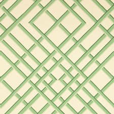 Celadon On Off-White Print Wallcovering by Brunschwig & Fils